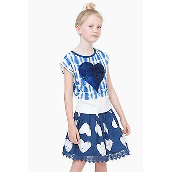 Desigual girls dress 2 in 1 blue and white vest Antananarivo