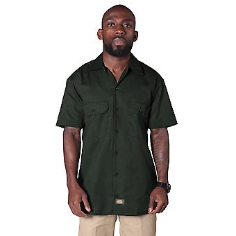 Dickies - Short Sleeve Work Shirt - Olive Green Dickies1574OG Mens Classic Shirt
