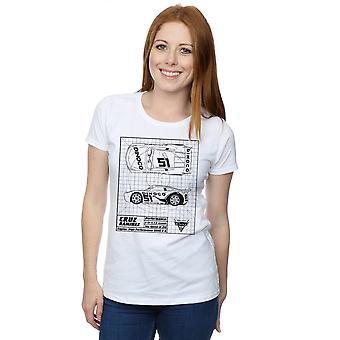 19b3121d1a6 Disney Women s Cars Cruz Ramirez Blueprint T-Shirt