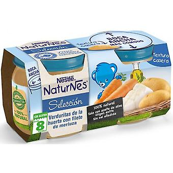 Nestlé Vegetables from the Huerta with Hake Filet 2x200 gr (Childhood , Food , Pots)