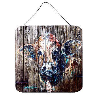 Carolines Treasures  MW1043DS66 Cow Moo Shine Aluminium Metal Wall or Door Hangi