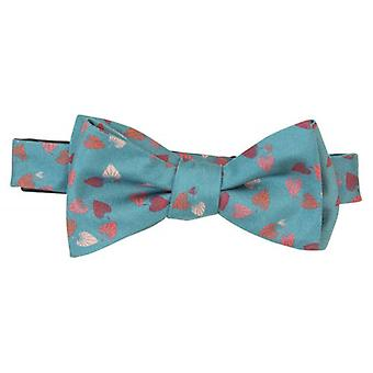 40 Colori Birch Printed Silk Butterfly Bow Tie - Teal