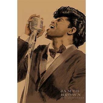 James Brown Poster Print by Clifford Faust (12 x 18)