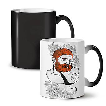 Beard Greek Geek Fashion NEW Black Colour Changing Tea Coffee Ceramic Mug 11 oz | Wellcoda