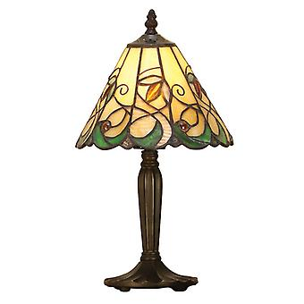Jamelia mellanliggande Tiffany stil bordslampa - interiör 1900 64196