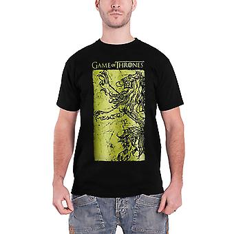 Juego de tronos T camiseta Lannister gigante oro emblema oficial para hombre nuevo negro