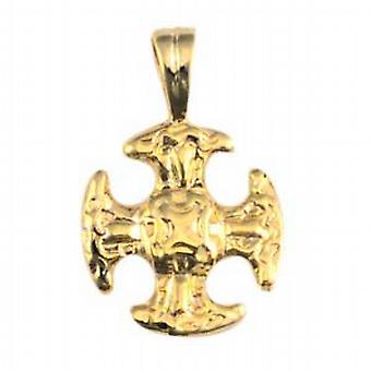 9ct goud 16mm fancy Cross