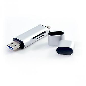 DESIRE2 Type C USB Readers Share Silver USB 3.0 C 5 in 1 card reader