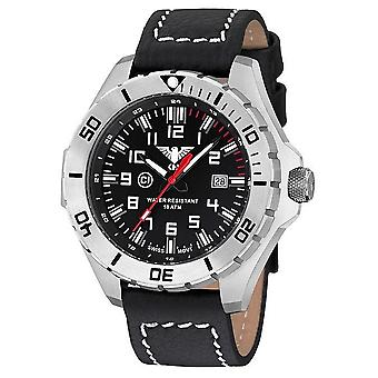 KHS watches mens watch steel KHS country leader. LANS. LBB