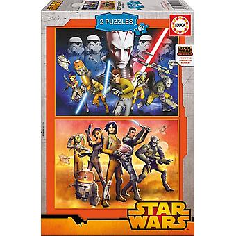 Educa 2x100 Star Wars Puzzles (Babies and Children , Toys , Boardgames)