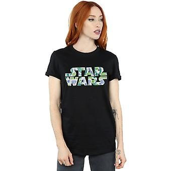 Star Wars Women's Palm Logo Boyfriend Fit T-Shirt