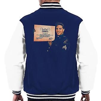 Elvis Presley US Army Certificate Men's Varsity Jacket