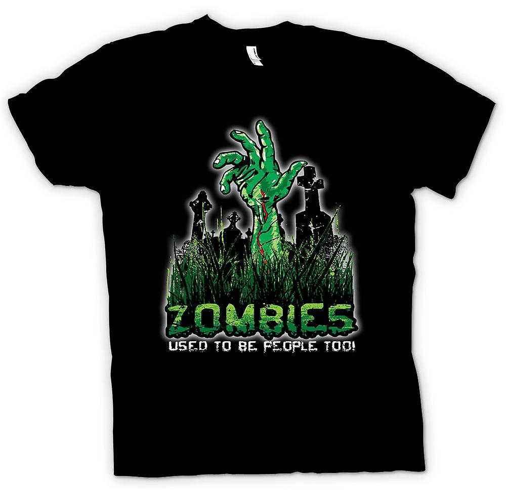 Mens T-shirt - Zombies Used To Be People - Funny
