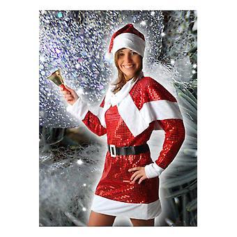 Kvinnor kostymer kvinnor Glitter jul klänning
