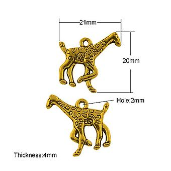 Packet 20 x Antique Gold Tibetan 21mm Giraffe Charm/Pendant HA08720