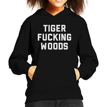 Tiger Fucking Woods Kid's Hooded Sweatshirt