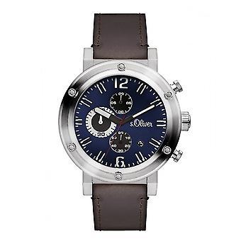 s.Oliver Herren Uhr Armbanduhr SO-3097-LC