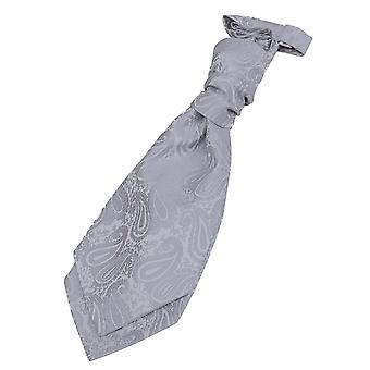 Silber Paisley Pre gebundene Hochzeit Krawatte für jungen
