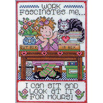 Work Counted Cross Stitch Kit-5