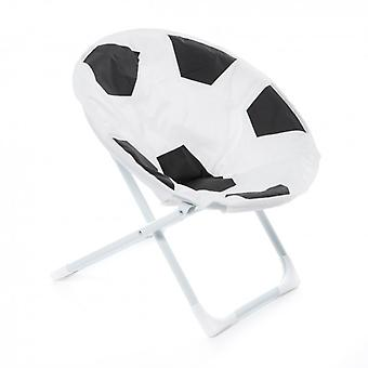 BABY chair BALL football motif INDOOR OUTDOOR kids chairs soft black white