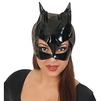Maske Katzenlady schwarz Cat Halloween