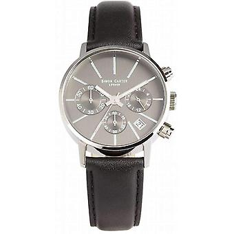 Simon Carter Chronograph Watch - Grey