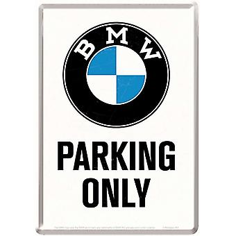 BMW parkering endast metall vykort / mini Sign 155 Mm X 110 Mm