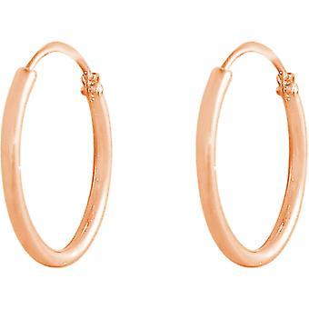 GEMSHINE 585 Rose Gold Hoop Earrings Hoop Earrings in maten 10 mm 16 mm