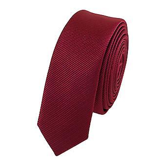 Schlips Krawatte Krawatten Binder 3cm rot weinrot uni Fabio Farini