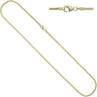 333 chain Yellow Gold 1.6 mm 45 cm carabiner gold chain gold necklace