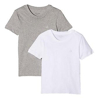 Calvin Klein Boys 2 Pack Modern Cotton Short Sleeve T-shirt - White/Grey