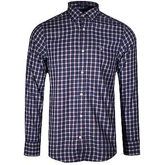 GANT GANT College Blue Twill Check Long-Sleeve Shirt