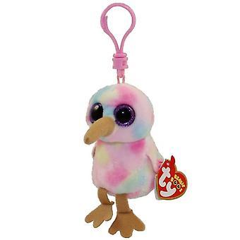 Ty Beanie Babies 36557 huées Kiwi l'oiseau rose Boo Clip clé