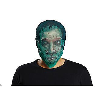 Media de puesto máscara zombie verde para el accesorio de cabeza carnaval carnaval SCREAMER