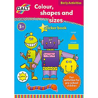 Galt Home Learning Colour Shapes and Sizes Sticker Book