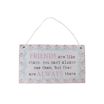 Friends are like Stars Pretty Floral Gift Plaque