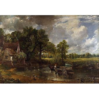 The Hay Wain, John Constable, 40x60cm with tray