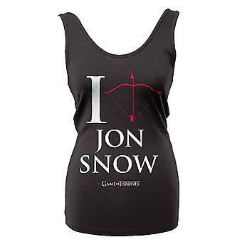 Game Of Thrones I Love Jon Snow  T-Shirt Girlie