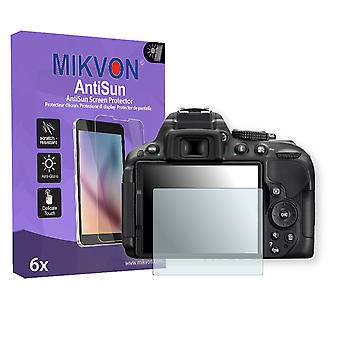 Nikon D5300 Screen Protector - Mikvon AntiSun (Retail Package with accessories)