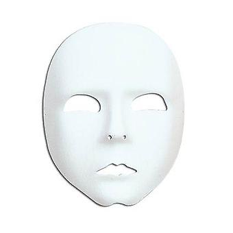 Plain White Face Mask.