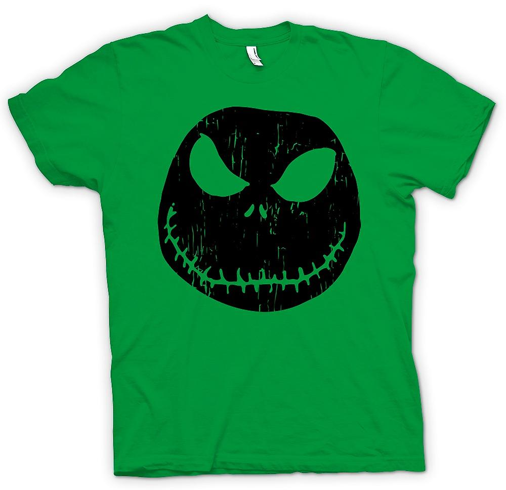 Hommes T-shirt - effrayant Halloween Pumpkin - Smiley Face