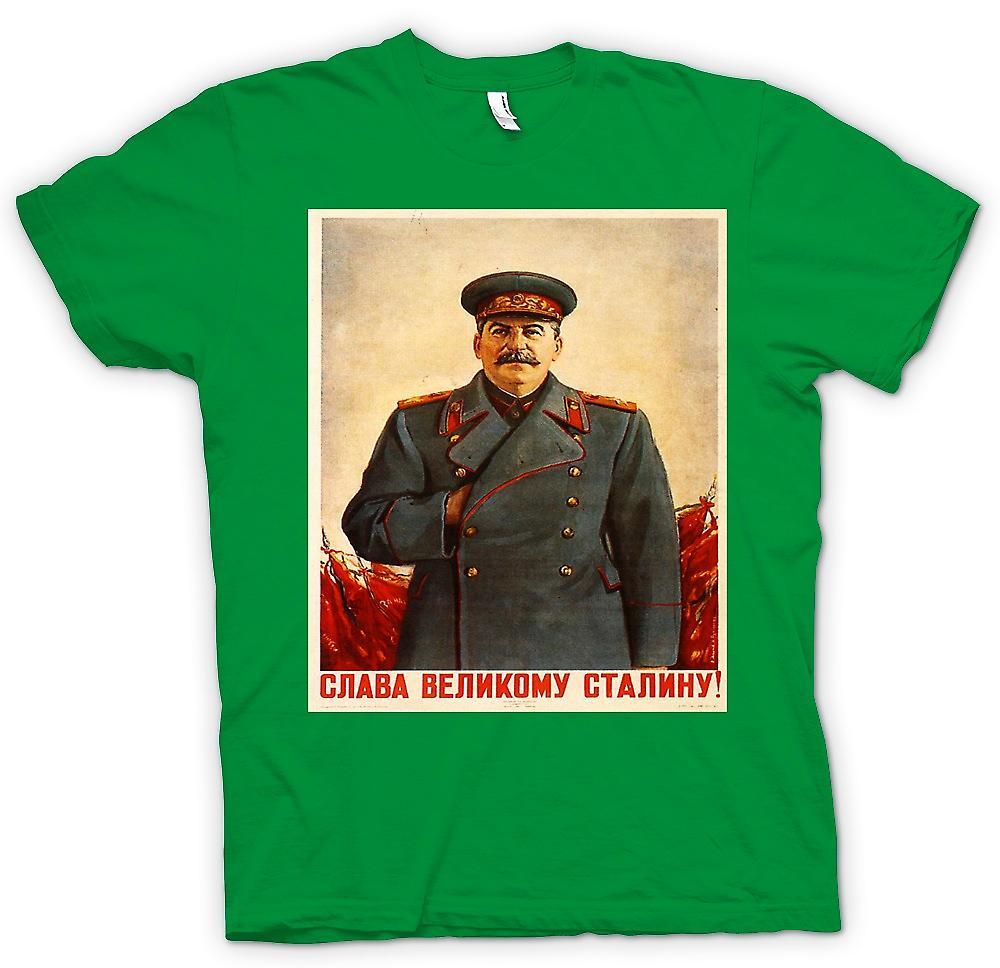 Mens t-shirt - Poster di propaganda russo - Stalin