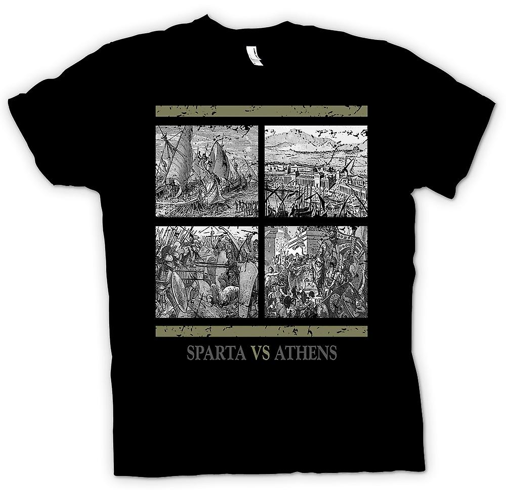 Womens T-shirt - Sparta Vs Athens - Ancient History