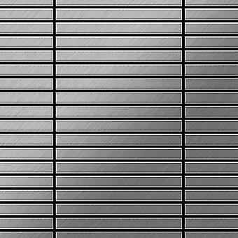 Metal mosaic Stainless Steel ALLOY Linear-S-S-B