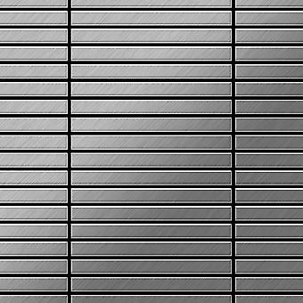 Mosaico metallo solido Acciaio inossidabile ALLOY Linear-S-S-B