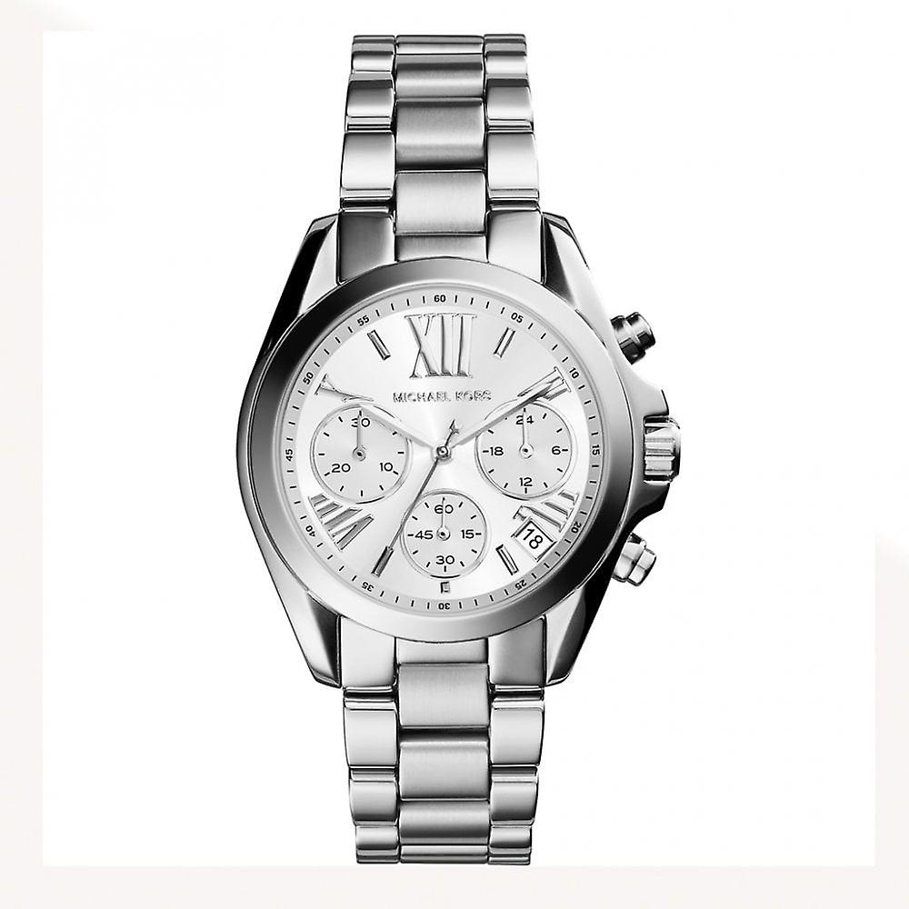 Michael Kors Watches Mk5555 Lexington Chronograph Silver Stainless Steel Watch