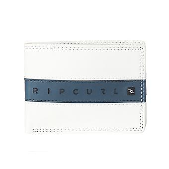 Rip Curl White Word Boss Slim Bifold Wallet