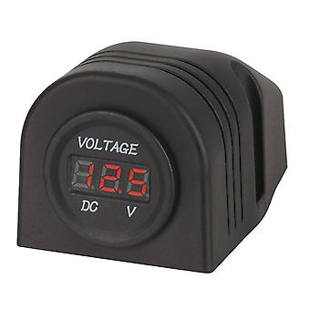 TechBrands Panel/Surface Mount LED Voltmeter 5-30VDC