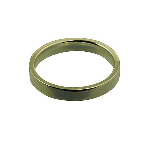 9ct Gold 3mm plain Flat Court shaped Wedding Ring