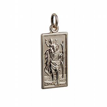 1/20th 14ct yellow gold on Silver 26x13mm rectangular St Christopher Pendant